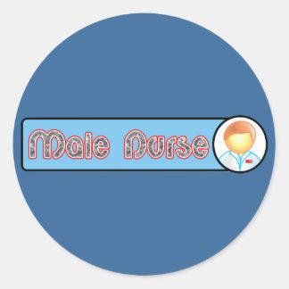 Male Nurse 2 Round Sticker