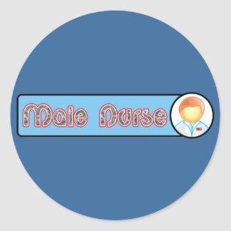 Male Nurse 2 Sticker