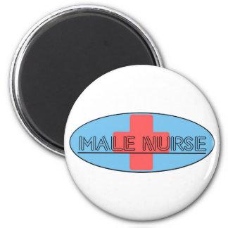 Male Nurse 6 Cm Round Magnet