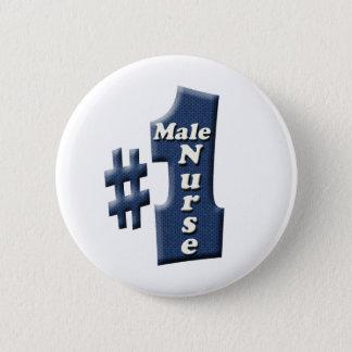 Male Nurse Award 6 Cm Round Badge