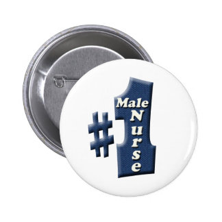 Male Nurse Award 6 Cm Round Badge