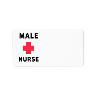 Male Nurse Address Label