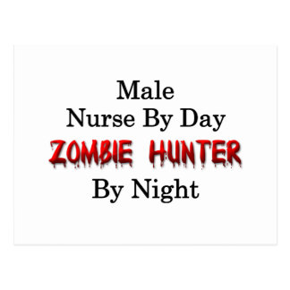 Male Nurse/Zombie Hunter Post Card