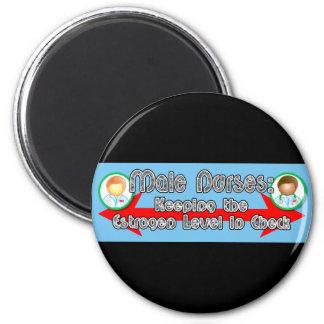Male Nurses: 6 Cm Round Magnet