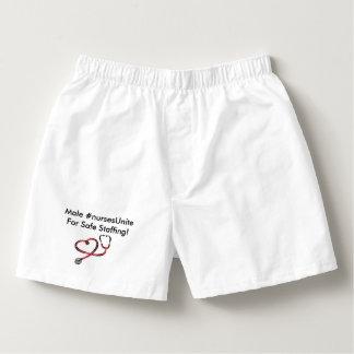 Male #nursesUnite for safe staffing Boxers