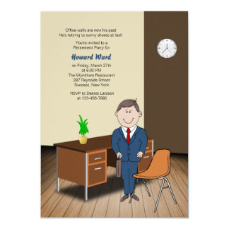 Male Office/School Employee Retirement Invitation