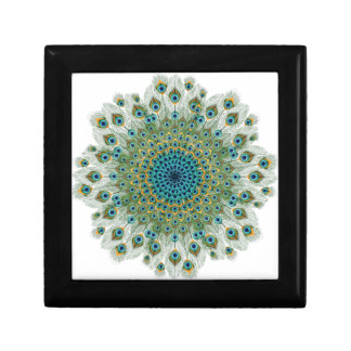Male Peacock Colorful Mandala Gift Box