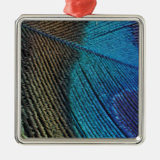 Male peacock feather detail christmas ornament