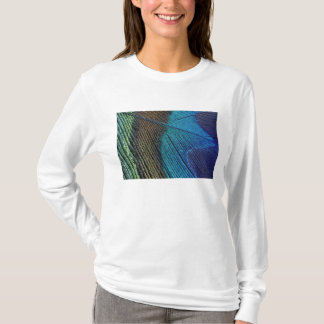 Male peacock feather detail T-Shirt