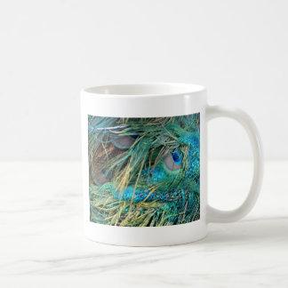 Male Peacock Feathers Blue And Green Coffee Mug