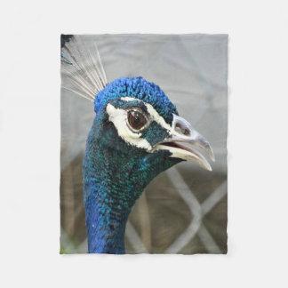 Male Peacock Fleece Blanket