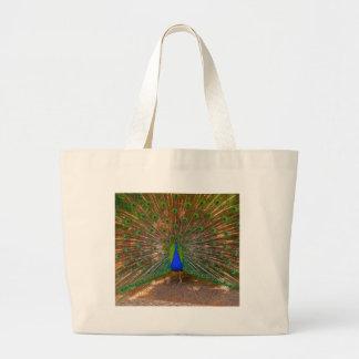 Male Peacock Gift Ideas Jumbo Tote Bag