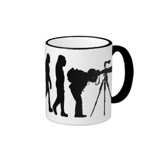 Male Photographer Evolution Mug
