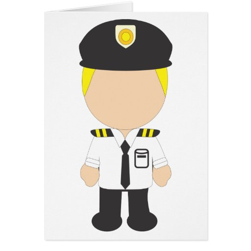 Male Pilot Greeting Card