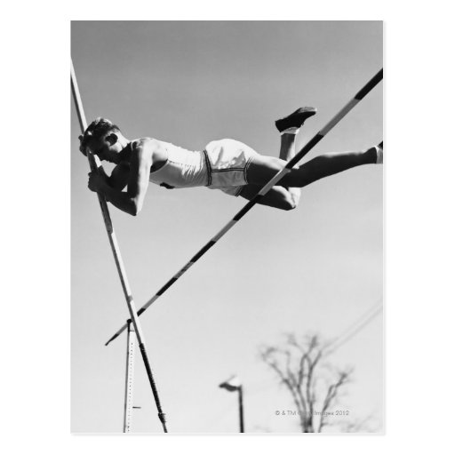 Male Pole Vaulter Post Cards