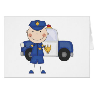 Male Police Officer Tshirts and Gifts Greeting Card