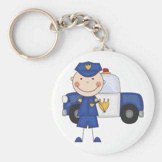 Male Police Officer Tshirts and Gifts Keychain
