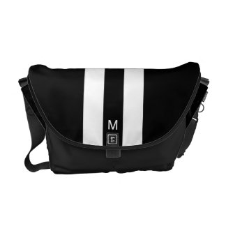 Male Racing Stripe Messenger Bag