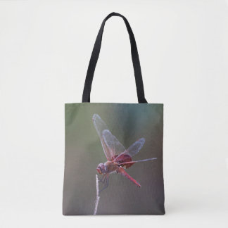 Male red saddlebags Dragonfly Tote Bag