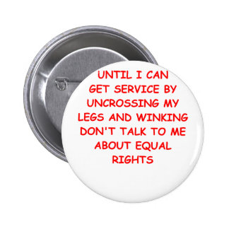 male rights 6 cm round badge