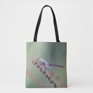 Male Roseate Skimmer Dragonfly Tote Bag