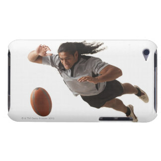 Male rugby player diving for ball barely there iPod cover