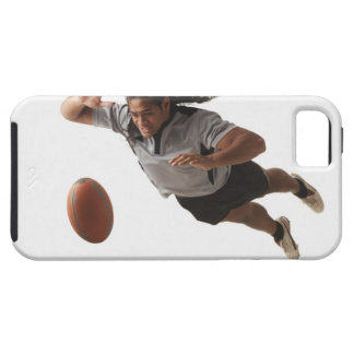 Male rugby player diving for ball iPhone 5 covers