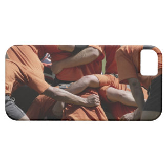 Male rugby players in scrum, rear view case for the iPhone 5