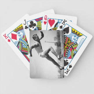Male Runner Bicycle Playing Cards