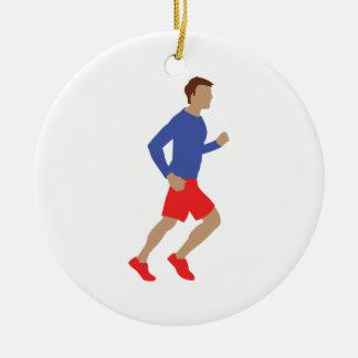 male runner christmas ornament