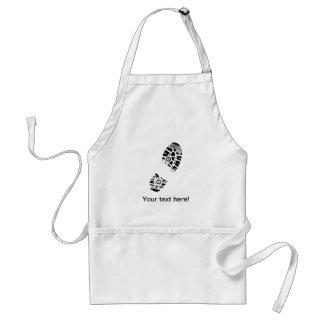 Male shoe print apron