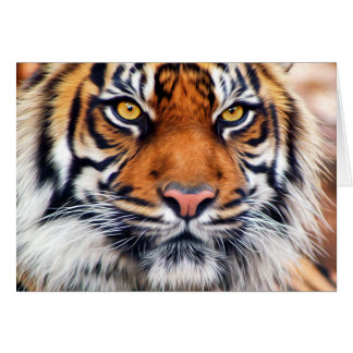 Male Siberian Tiger Paint Photograph Greeting Card