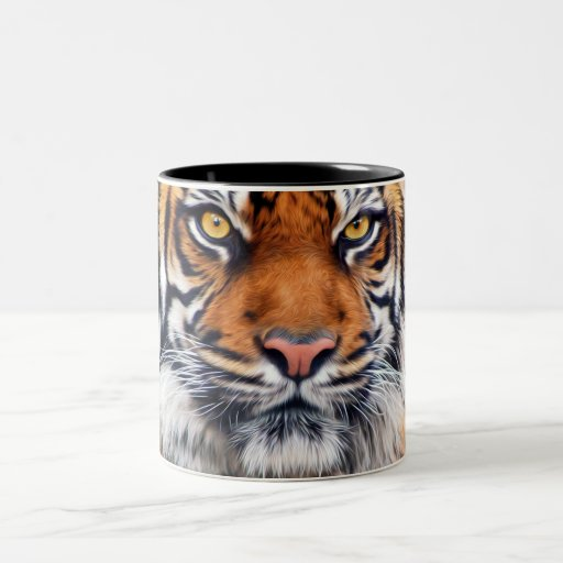Male Siberian Tiger Paint Photograph Mug