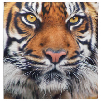 Male Siberian Tiger Paint Photograph Napkin