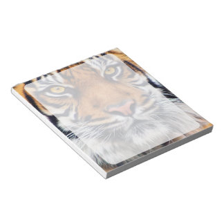 Male Siberian Tiger Paint Photograph Notepad