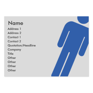 Male Sign - Chubby Pack Of Chubby Business Cards