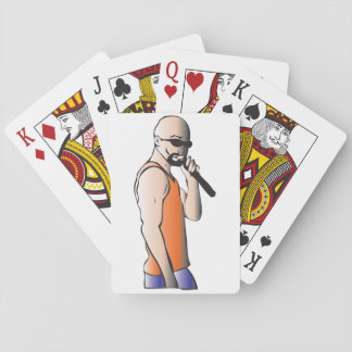 Male Singer Playing Cards
