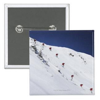 Male Skier 15 Cm Square Badge