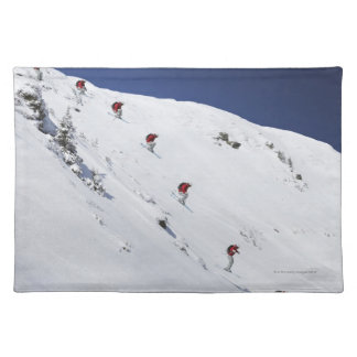 Male Skier Place Mats