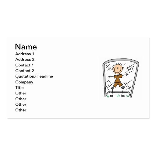 Male Soccer Goal Keeper T-shirts and Gifts Business Card Templates