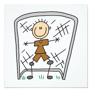 Male Soccer Goal Keeper T-shirts and Gifts 13 Cm X 13 Cm Square Invitation Card