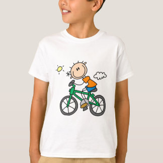 Male Stick Figure Bicyclist Tshirts and gifts