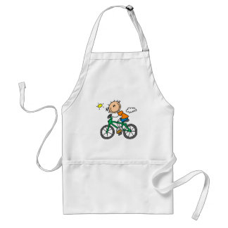 Male Stick Figure Bicyclist Tshirts and gifts Aprons