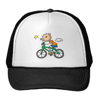 Male Stick Figure Bicyclist Tshirts and gifts Mesh Hats