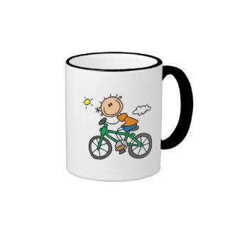 Male Stick Figure Bicyclist Tshirts and gifts Coffee Mug