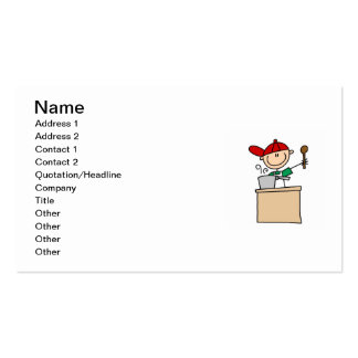 Male Stick Figure Cook Business Card Templates