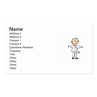 Male Stick Figure Nurse Business Card