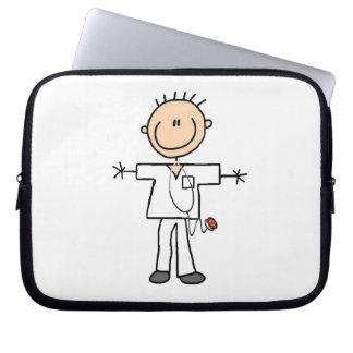 Male Stick Figure Nurse Computer Sleeves