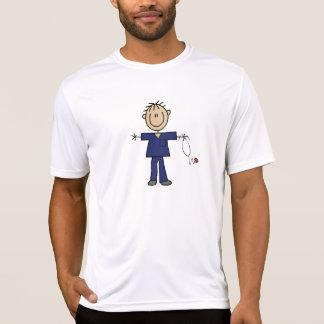 Male Stick Figure Nurse Medium Skin Tshirts