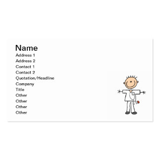 Male Stick Figure Nurse T-shirts and Gifts Business Card
